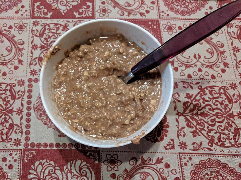 Oat porridge made with Bloom