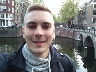 Leidsegracht, Amsterdam, Netherlands - Selfie with the canals during my trip in spring break 2017