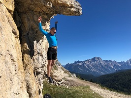 Cortina, Italy - Failed attempt at hanging from a rock