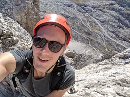 Cortina, Italy - Near a peak and at the end of a Via Ferrata