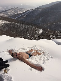 Kékes tető, Mátra, Hungary - Snowbath at Hungary's highest peak in February of 2018