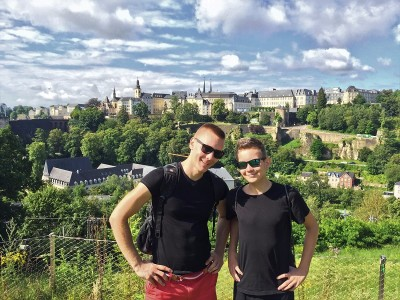 Fort Obergrünewald, City of Luxembourg, Luxembourg - With my brother during our 2016 family vacation