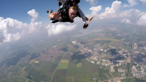 Szeged, Csongrad, Hungary - My first skydiving with my hometown below.