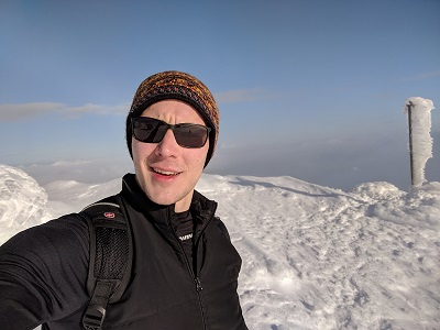 Ďumbier, Tatras, Slovakia - Selfie on the peak during our 2018 January outing